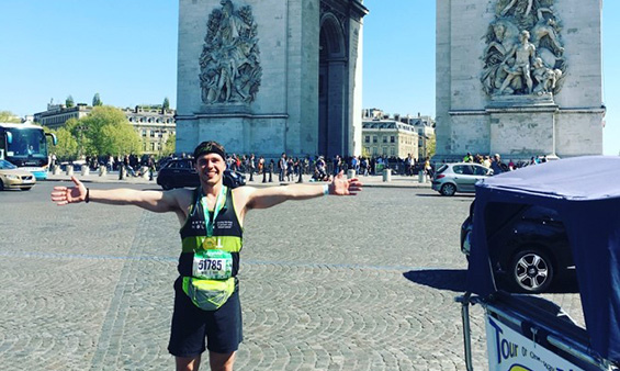 William Ash at Paris marathon